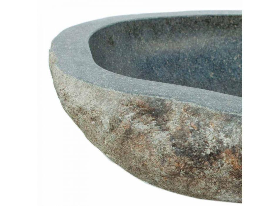 Waschbecken aus Naturstein Kai, mit Hahnloch