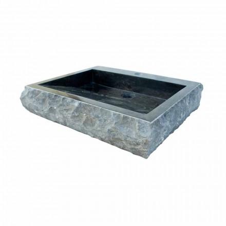 Aufsatzwaschbecken aus Naturstein schwarz Sam, Einzelstück