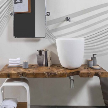 Aufsatzwaschbecken aus Harz und Mineralpulver in Form eines Eimers - Eimer