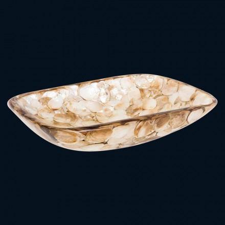 Modernes Aufsatzwaschbecken mit Aktenheften aus Perlmutter Goldie