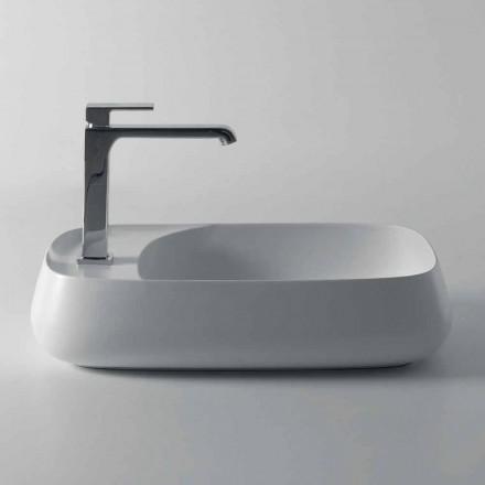 Modernes Aufsatzwaschbecken aus Keramik L 60 cm, hergestellt in Italien, Gaiola