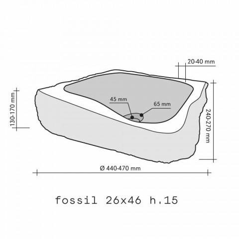 Arbeitsplatte Trägerstück aus Holz Fossil Goa