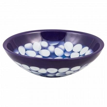 Handgearbeitetes Aufsatzwaschbecken aus Kunstharz, Buccheri, Unikat