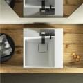 Aufsatzwaschbecken in Quadratischeform mit modernem Design in Italien hergestellt, Lavis
