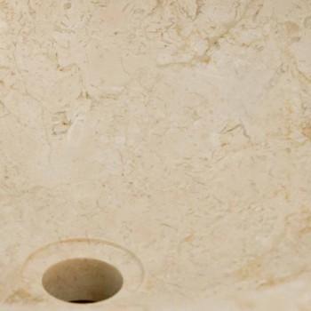aus runden Waschbecken aus Naturstein Job weiß