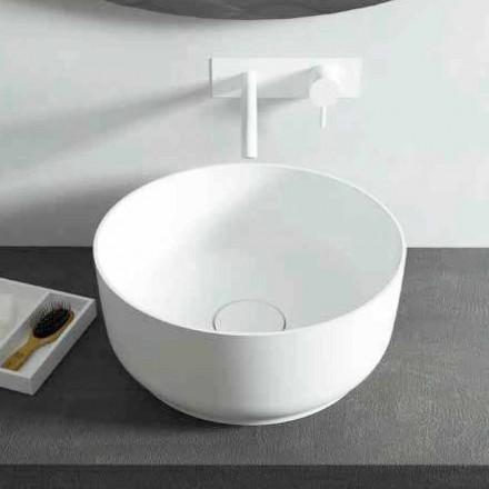 Rundes Aufsatzwaschbecken Dalmine,mit modernem Design, made in Italy