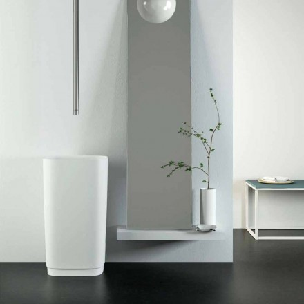 Rundes Waschbecken freestanding mit modernem Design made in Italy, Lallio
