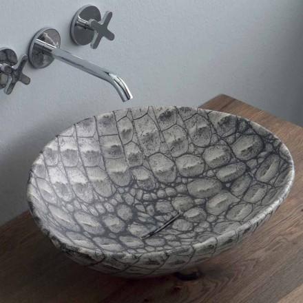 Design Keramik Aufsatzwaschtisch hergestellt in Italy Animals