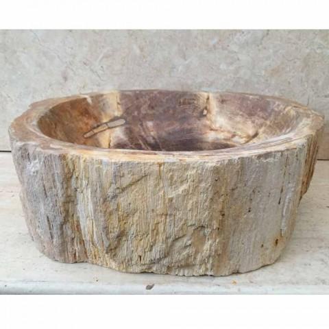 Handgefertigte Designspüle in Star Big fossil wood