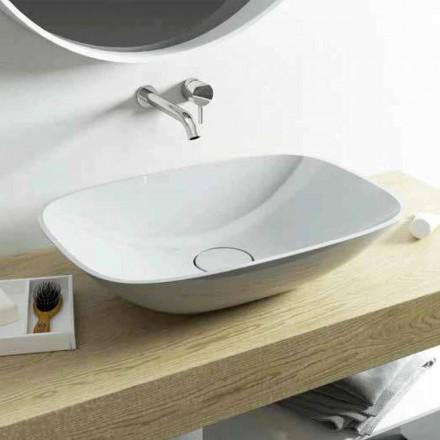 Aufsatzwaschbecken mit modernem Design Taormina Medium, made in Italy