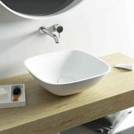 Aufsatzwaschbecken in einer Quadratischeform made in Italy Taormina Mini