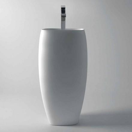 Gaiola modernes Design freistehendes Waschbecken aus Keramik, made in Italy