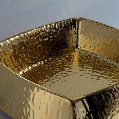 Gold modernes Keramik Aufsatzwaschbecken made in Italy Simon