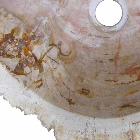 Holz Fossil Waschbecken Arbeitsplatte Goa Einzelstück