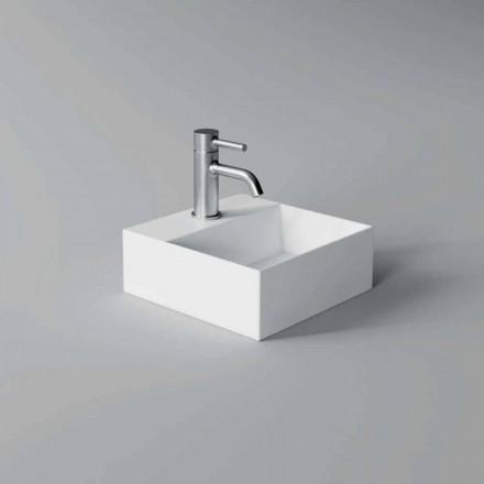 Quadratisches oder rechteckiges Keramikwaschbecken im modernen Design Made in Italy - Act