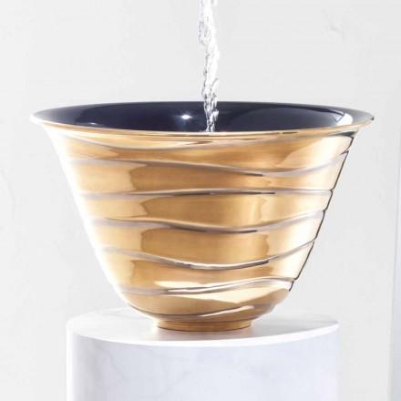 Aufsatzwaschbecken modern aus Feinsteinzeug made in Italy, Marcello