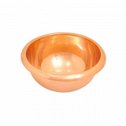 Kupfer Aufsatzwaschbecken rund handgemacht Alba