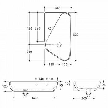 Aufsatzwaschbecken / Design Keramik aus Italien Sheyla