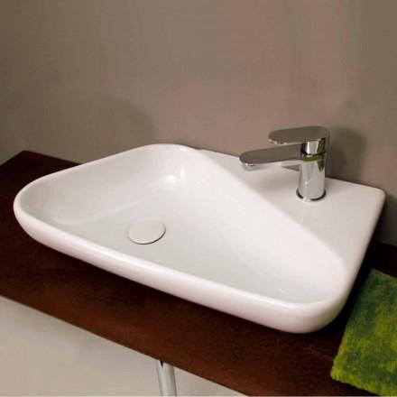 Aufsatzwaschbecken Design aus Keramik, made in Italy Sheyla