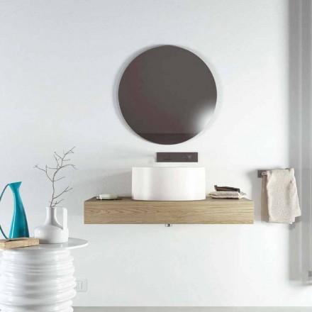 Design rundes Aufsatzwaschbecken in Italien hergestellt, Forino