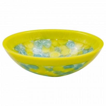 Handgearbeitetes Aufsatzwaschbecken aus Kunstharz, Buglio, Unikat