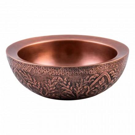 Runder Aufsatzwaschtisch aus Kupfer, Muros, Unikat