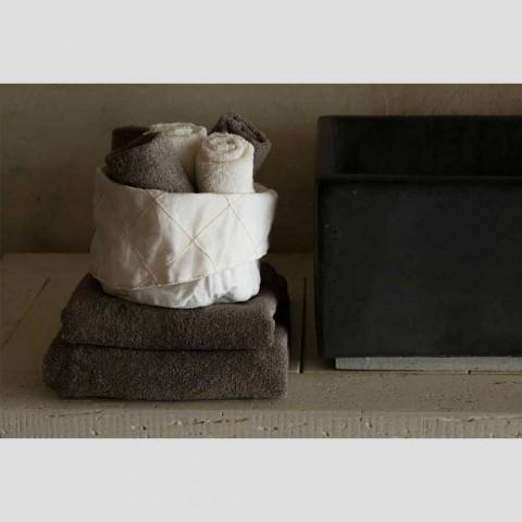 Badetuch für Gäste in Terry mit gemischtem Leinenrand 6 Stück - Kamm