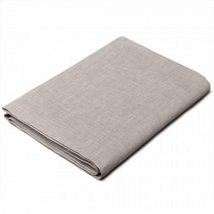 Einzel-, Doppel- oder Queen Size Bettlaken aus Leinen naturton – Chiana
