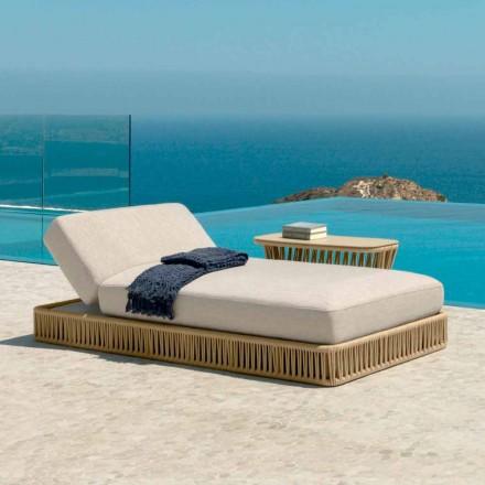Moderne Outdoorliege stapelbar Cliff Talenti, design Palomba