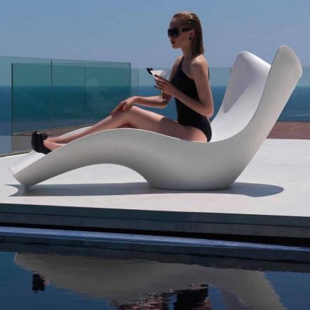 Moderne Sonnenliege aus Polyethylen, Surf by Vondom