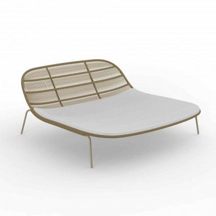 Doppelstapelbares Gartenbett aus Aluminium und Stoff - Panama Talenti