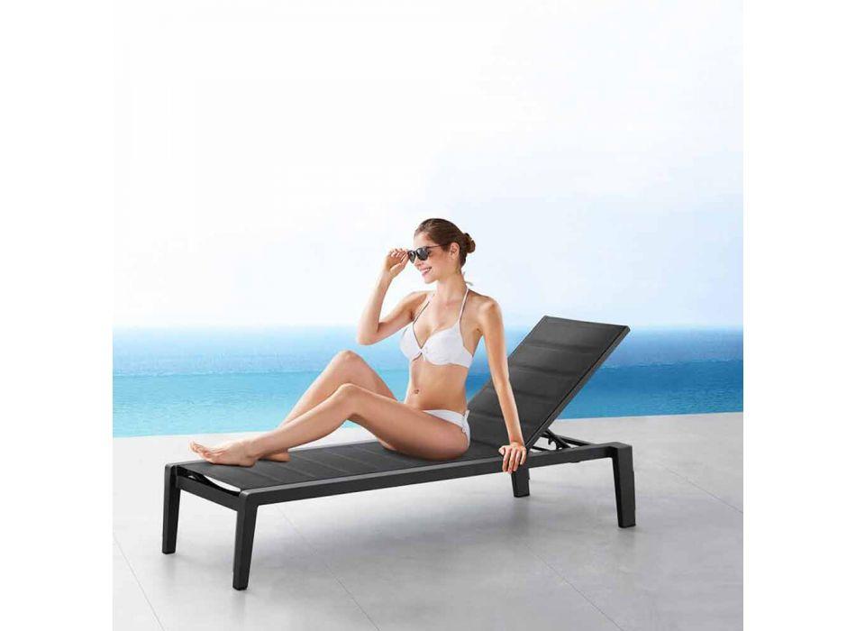 Aluminium-Sonnenliege mit Textilene-Kissen, 3 Oberflächen - Moira