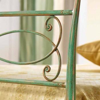 Einzelbett und einem halben Gabri grün Eisen geschlagen Kupfer