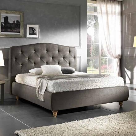 Gepolstertes Doppelbett  mit Aufbewahrungsbox 160x190/200cm Leone
