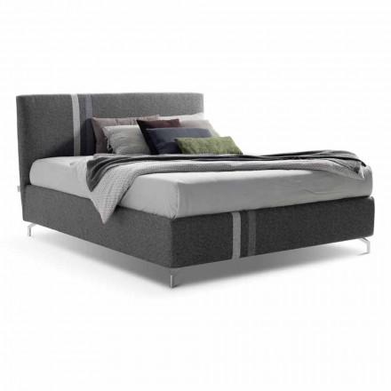 Stoff Doppelbett mit Behälter Made in Italy - Paolo