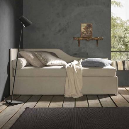 Einzelbett mit geformtem Kopfteil und Seitenwand, Linie 8 Bozen