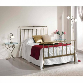 Queen-Size-Bett aus Schmiedeeisen voll Kelly made in Italy