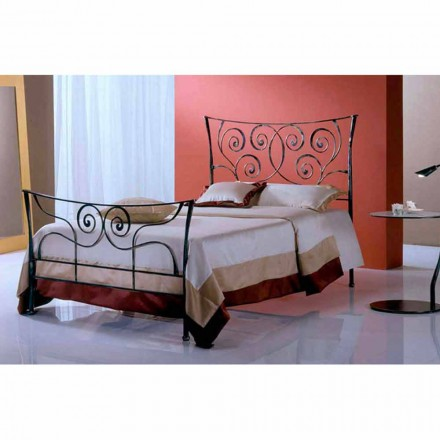 Jugend Queen Size Bett aus Schmiedeeisen Ares
