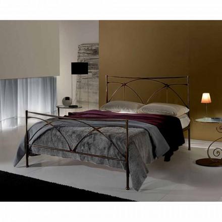 Jugend Queen Size Bett aus Schmiedeeisen Persefone