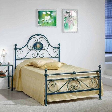 Bett 120x90 cm aus Schmiedeeisen Gloria Made in Italy