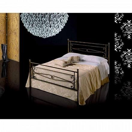 Jugend Queen Size Bett aus Schmiedeeisen Topazio