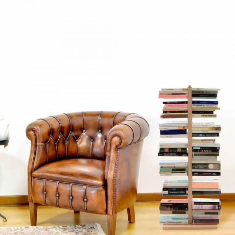 Zia Bice modernes Säulen-Bücherregal aus Holz made in Italy
