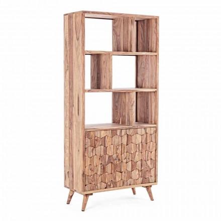 Vintage Design Boden Bücherregal in Holz und Stahl Homemotion - Ventador