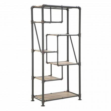 Modernes Design-Bücherregal in MDF und Metall - Merve