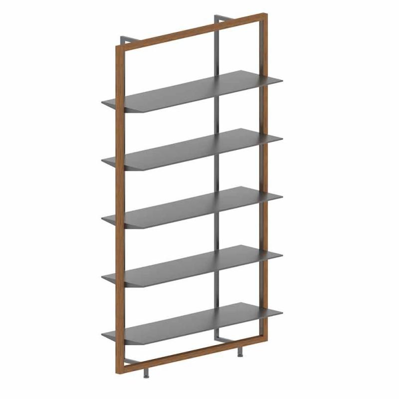 Boden Bücherregal aus Metall, Aluminium und Holz Made in Italy - Bonaldo Aliante
