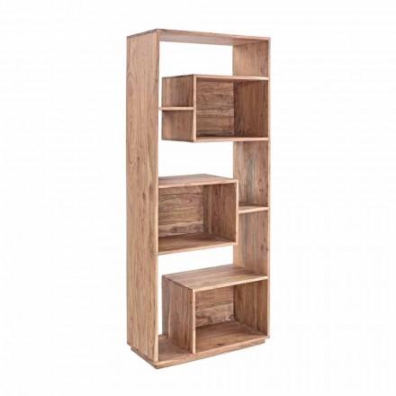 Homemotion Modern Floor Bücherregal mit Akazienholzstruktur - Genza