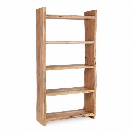 Modernes Boden Bücherregal aus Akazienholz mit 5 Regalen Homemotion - Lauro