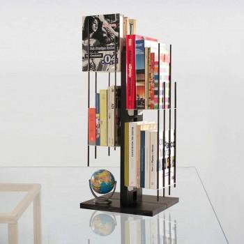 Modernes Design Säulen Bücherregal Zia Veronica in massiver Buche