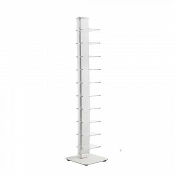 Bücherregal aus Methacrylat im modernen Design, L35xD35xH154 cm, Luca