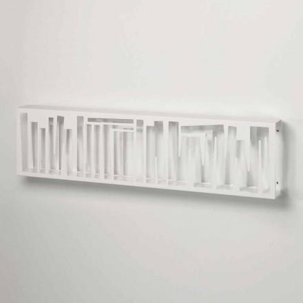 Modernes Design Wand Bücherregal aus Weißmetall Made in Italy - Bolivia
